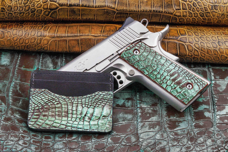 Alligator wallet front pocket