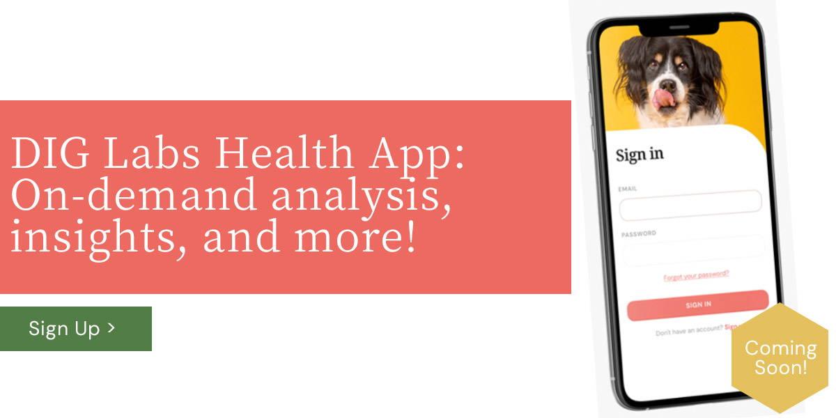 DIG Labs pet health app