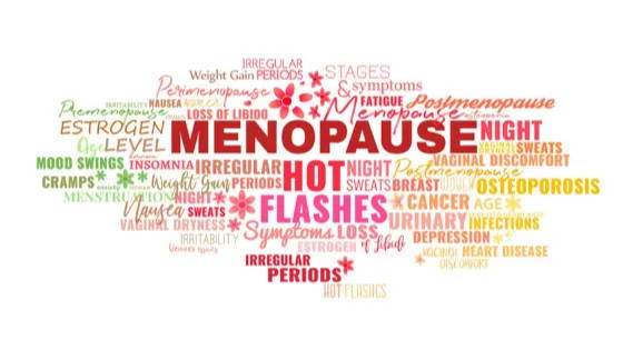 word cloud of menopause