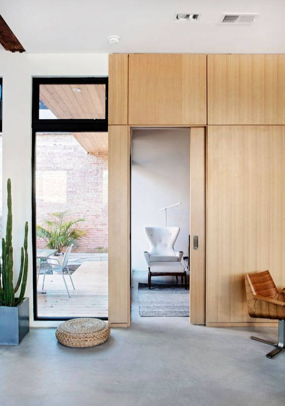 Pocket doors in small spaces