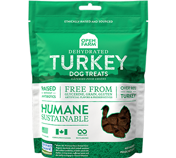 Dehydrated Turkey Dog Treats | Open Farm