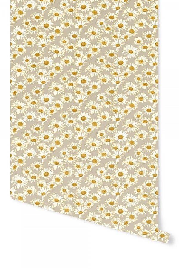 Tempaper Daisies Temporary Wallpaper