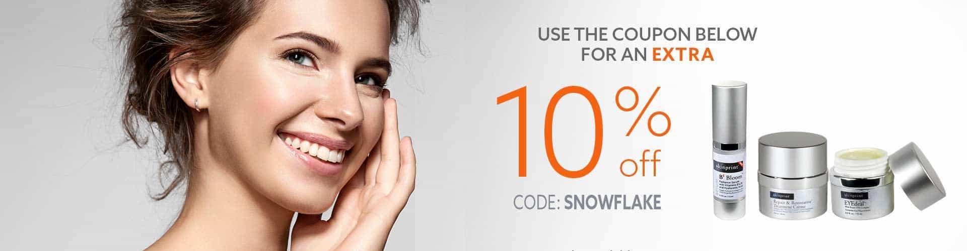 10% off SNOWFLAKE