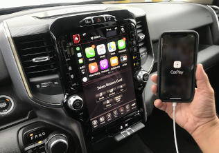 2019-2021 RAM Truck UAX Uconnect 4C NAV with 12-inch Touchscreen including Apple CarPlay & Android Auto Upgrade