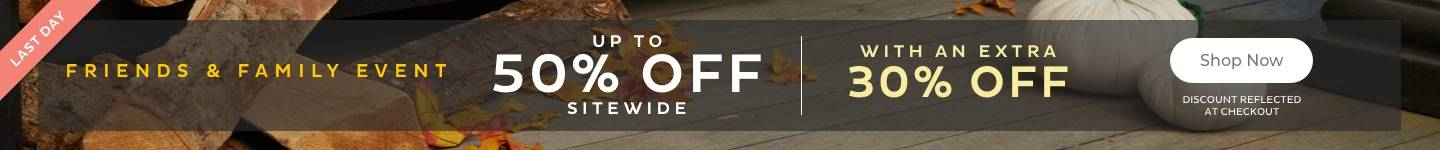 Extra 30% Off Sitewide