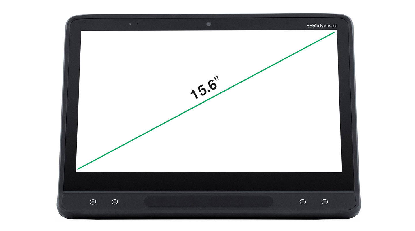 Tobii Dynavox I-Series I-16 with size measure