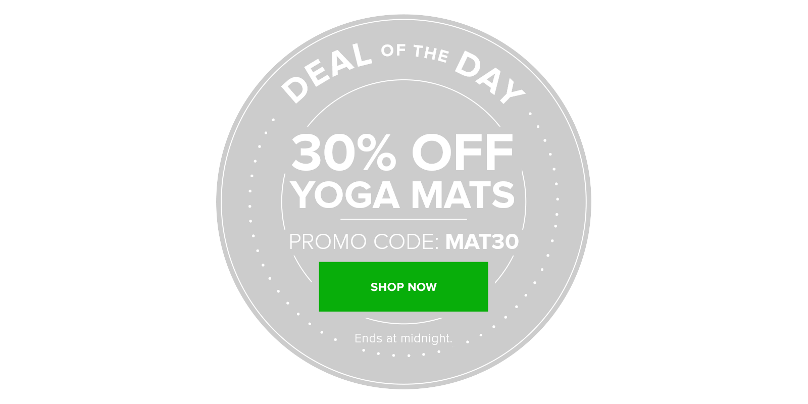 Deal of the Day: 30% off Yoga Mats with code MAT30
