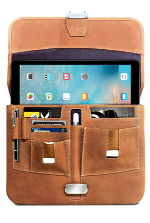 Open view of the MacCase 12.9 Briefcase