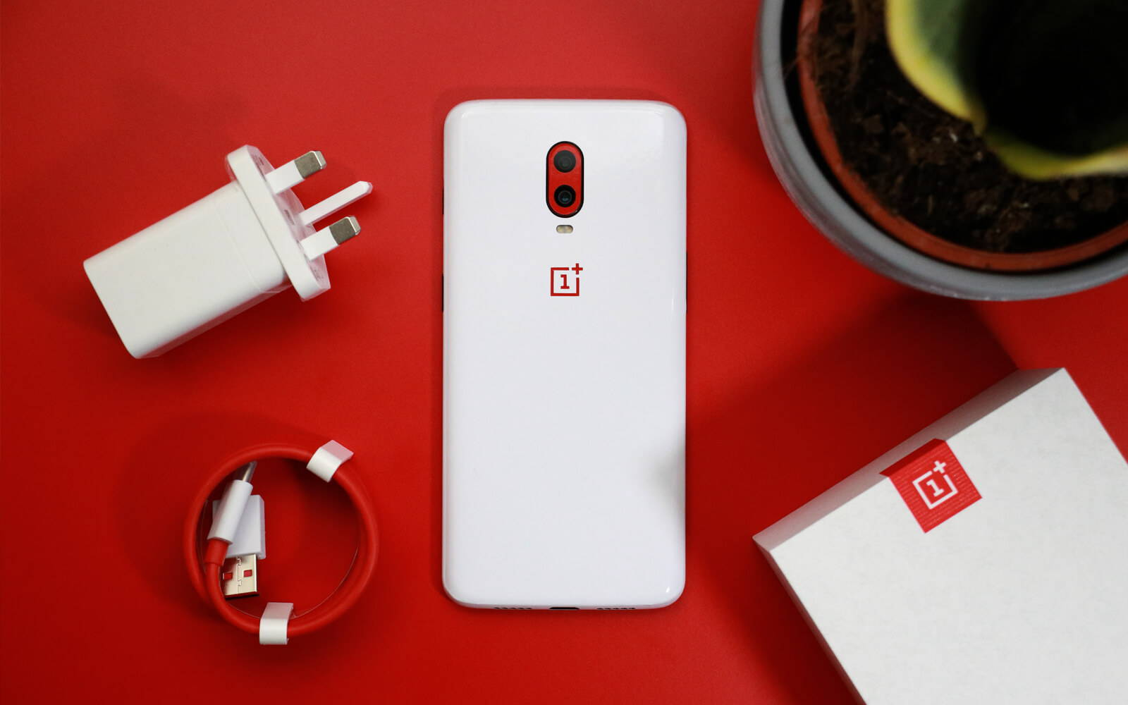 OnePlus 6T White Gloss and Dragon Red Gloss