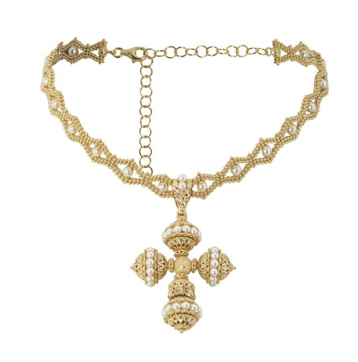 soru jewellery santina cross choker