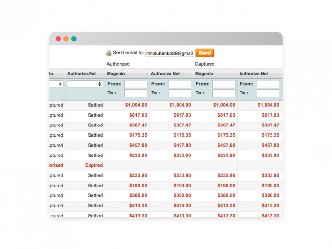 Authorize.Net Settlement Report for Magento 1 Grid 2