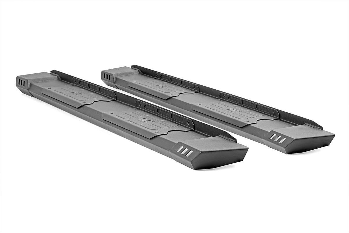 Cab Lenght HD2 Running Boards on white background