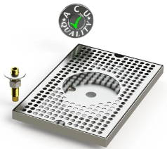 Surface Mount Drip Trays with Built In Rinsers