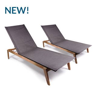 POVL OUTDOOR MENLO STACKING CHAISE LOUNGE