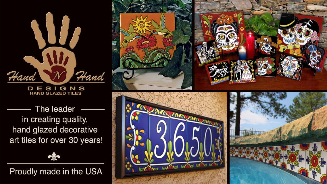 Hand - n - Hand Designs - THe Leader in Hand Glazed Decorative Art Tiles for over 30 years!