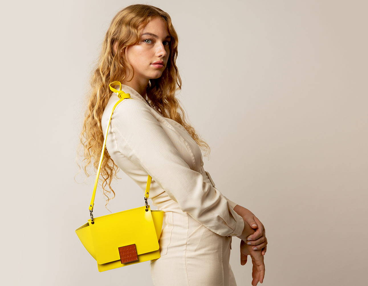 Hill and Friends Riley Bag in bright Yellow - Made In England