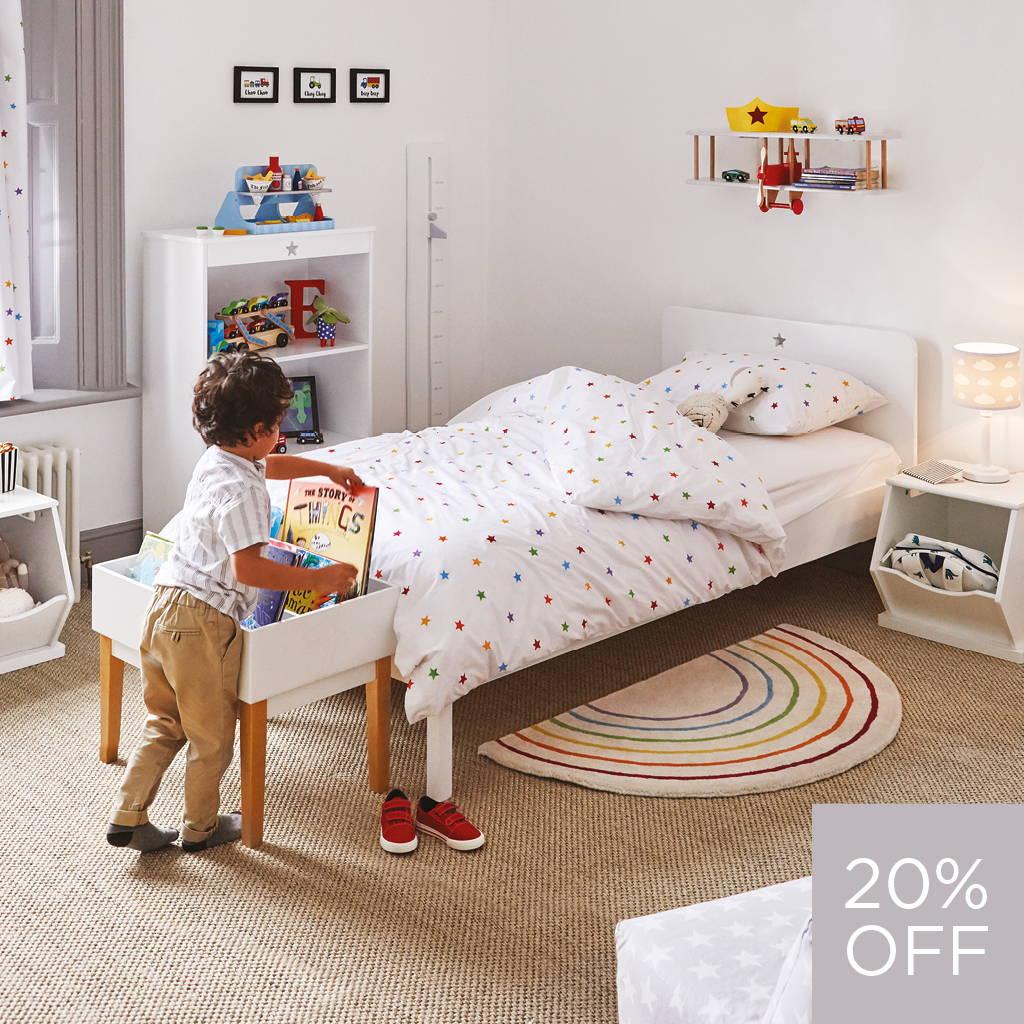 rainbow stardust kids' bedroom
