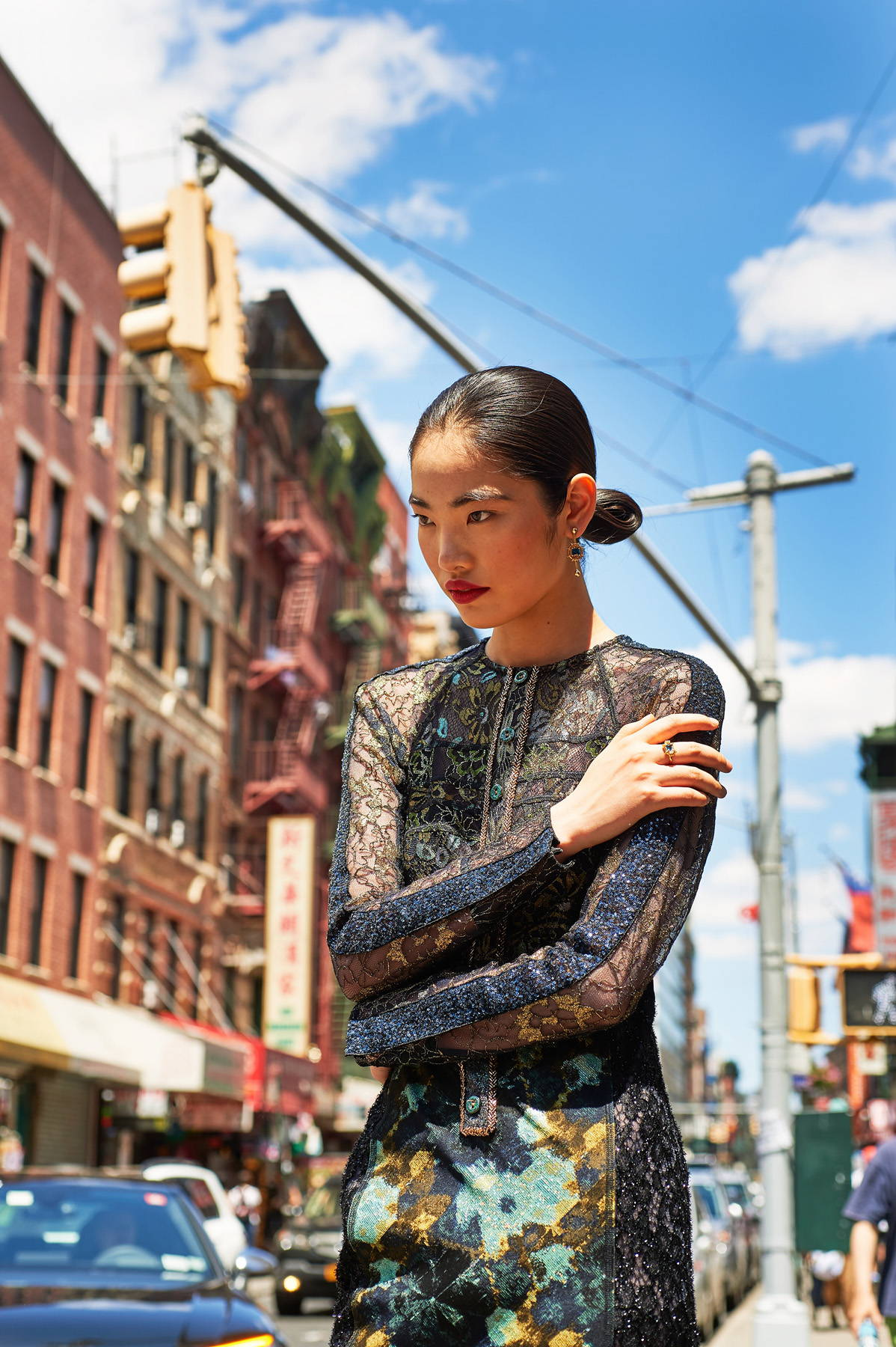 Flying Solo Independent Designers New York City L'Officiel Austrailia Photoshoot editorial Street Style China Town