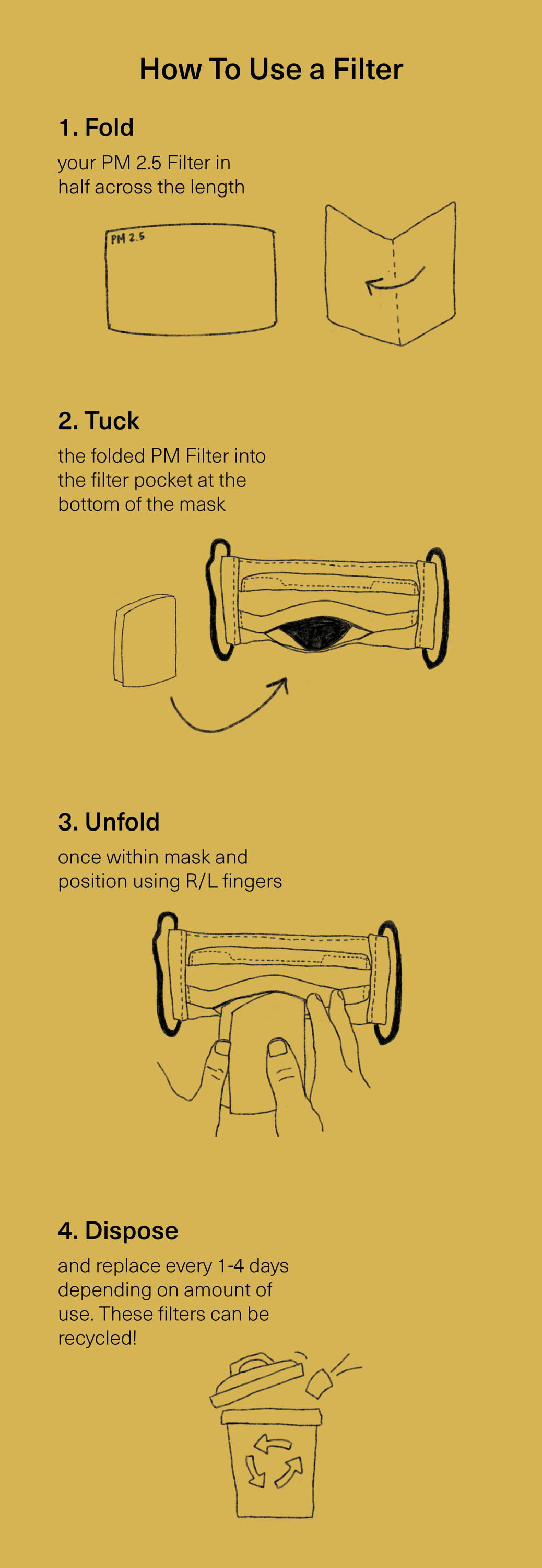 how to use a face mask filter in our mask