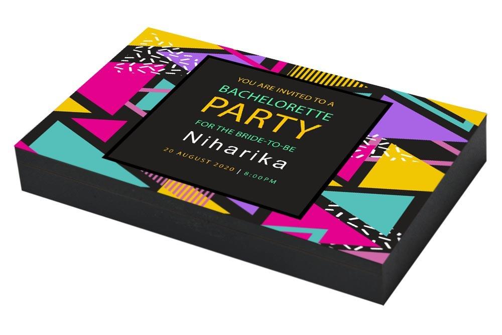 Colorful Bachelorette party Invitation