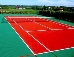 Dalles clipsables en polypropylène pour Tennis