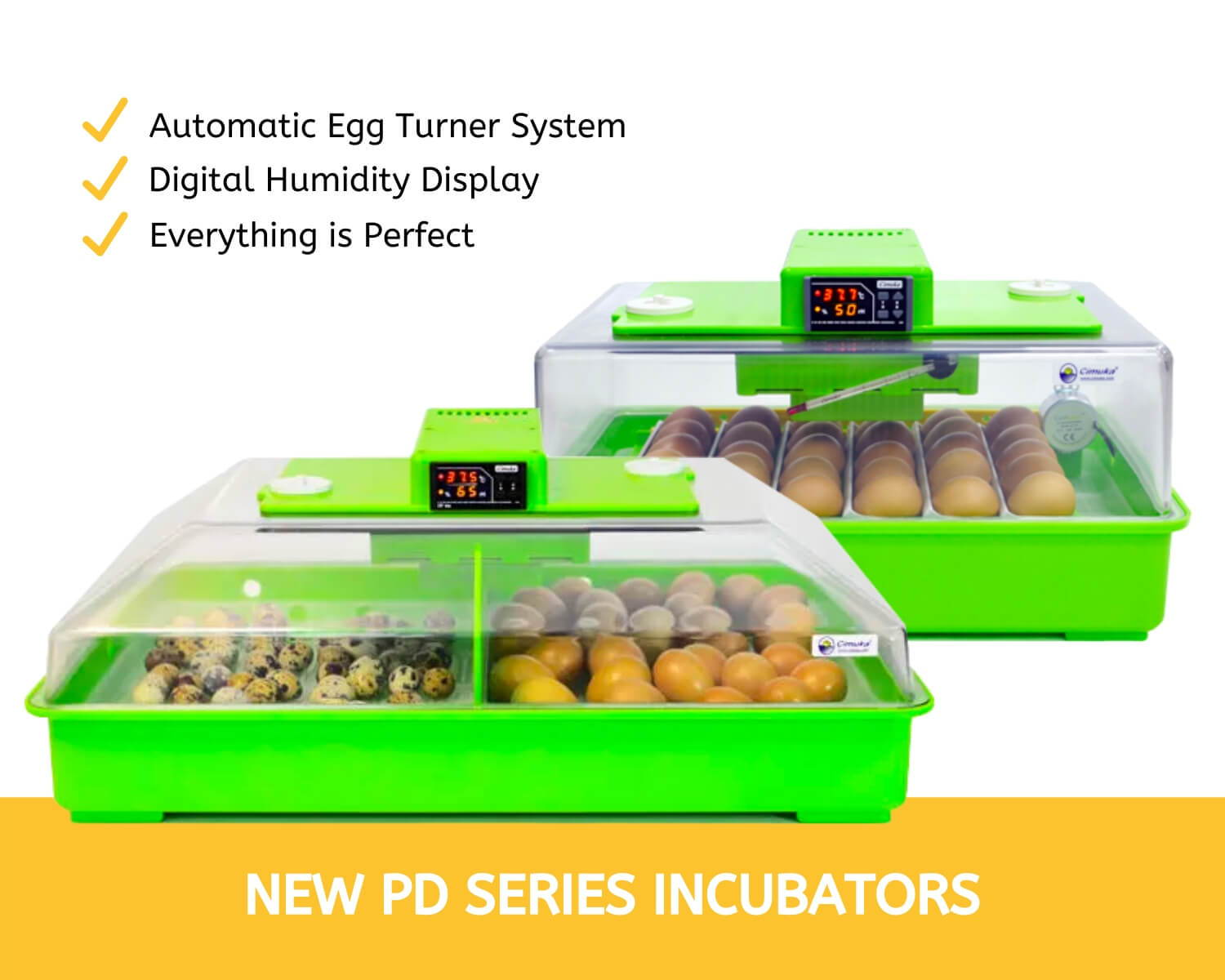 PD30 & PD60 Incubators - Cimuka Hatching Time
