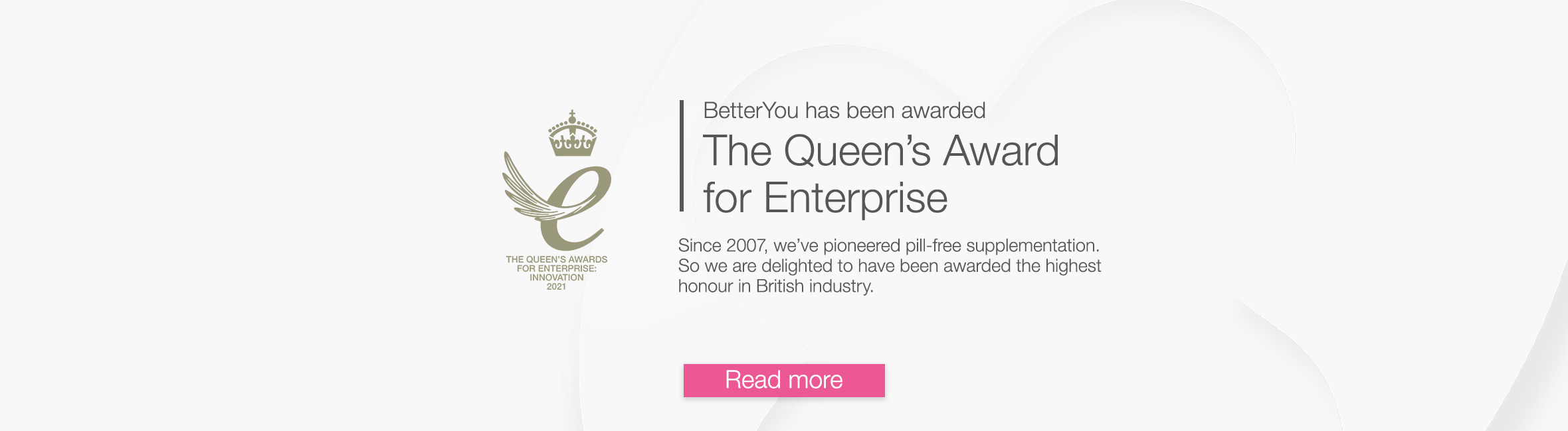 BetterYou has been awarded the Queens Award for Enterprise: Innovation