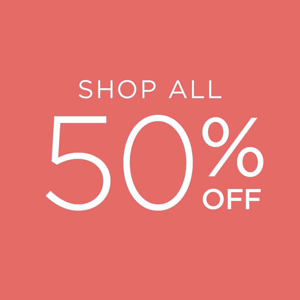 Shop all 50% off