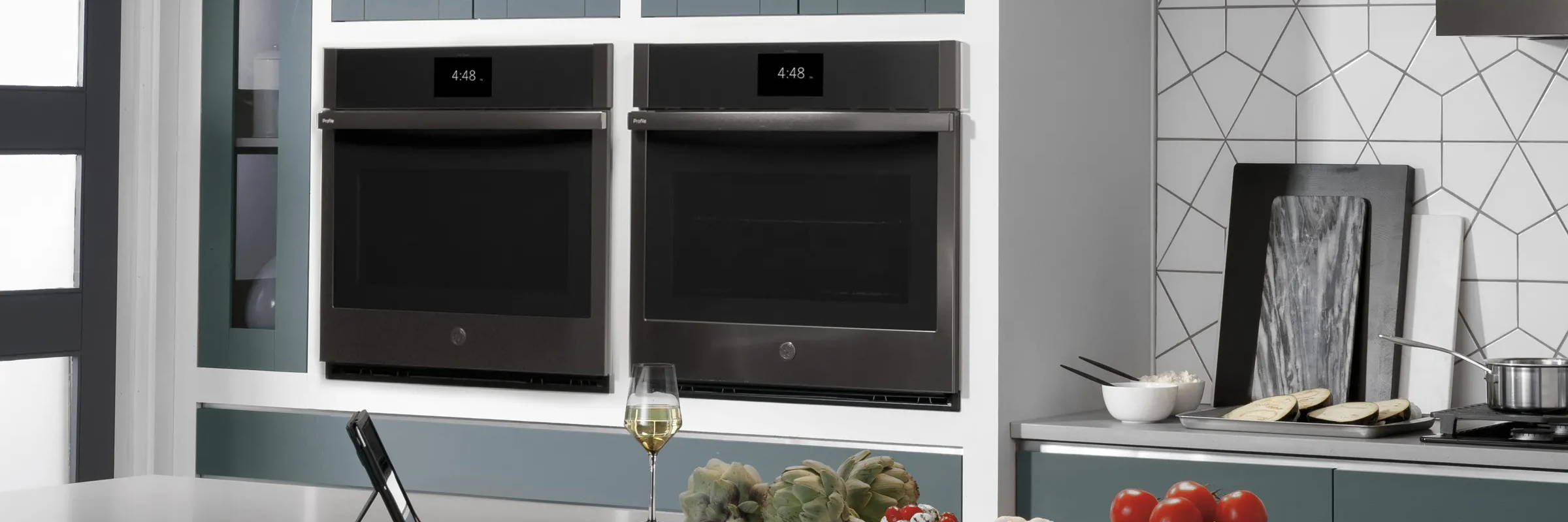 GE Profile Smart Wall Oven Kitchen