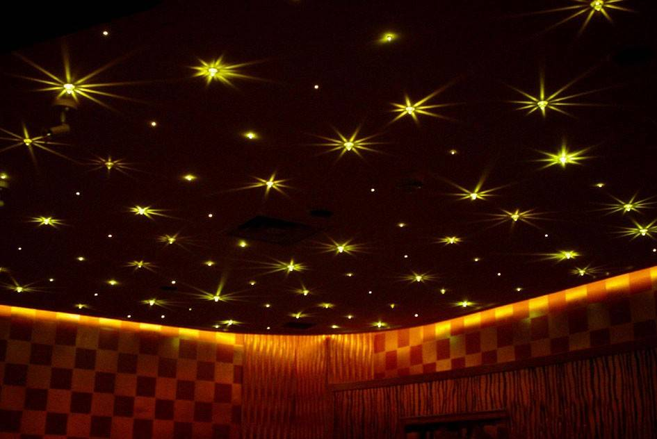 Home theater star ceiling tile system