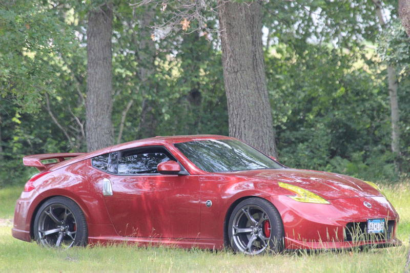 Nissan 370Z with Yellow Lamin-x headlight tint film covers