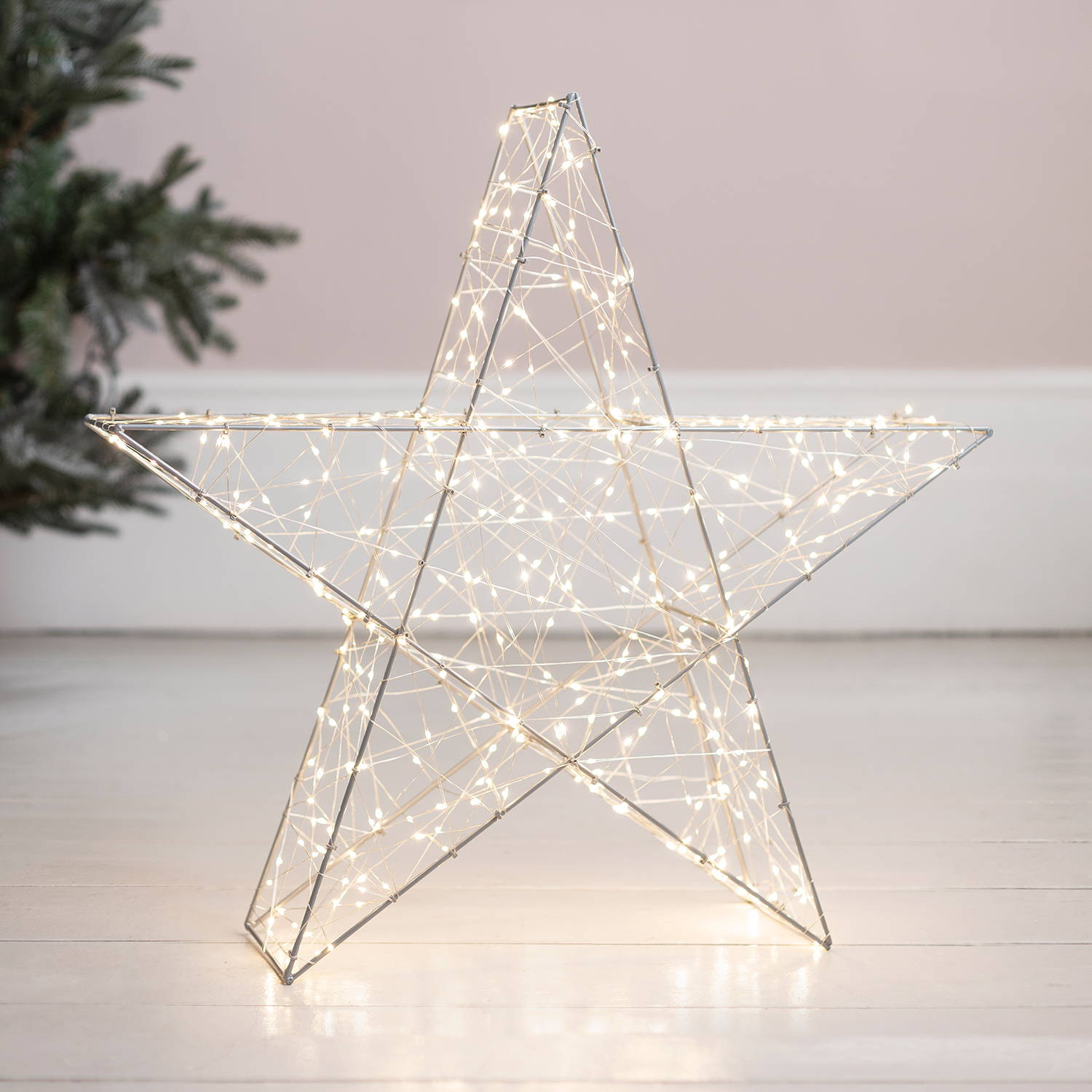 LED 3D star light with metal frame
