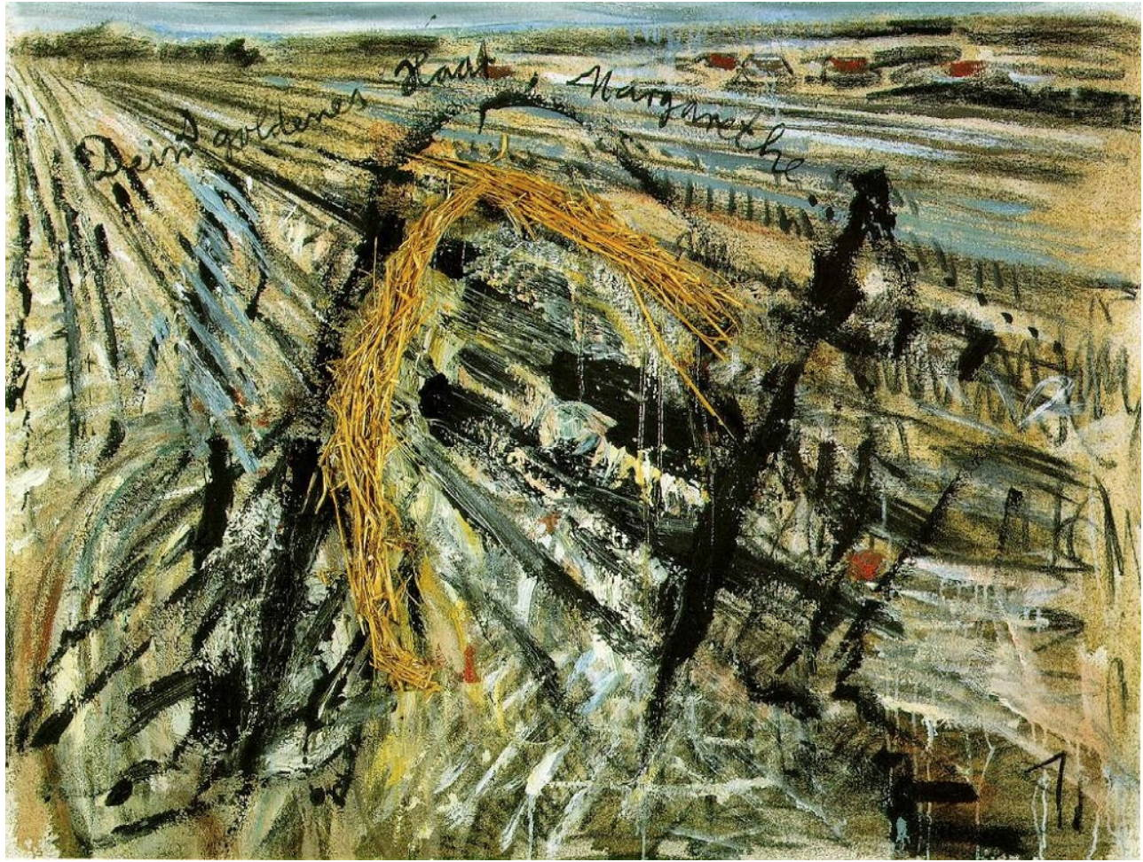 Anselm Keifer mixed media painting