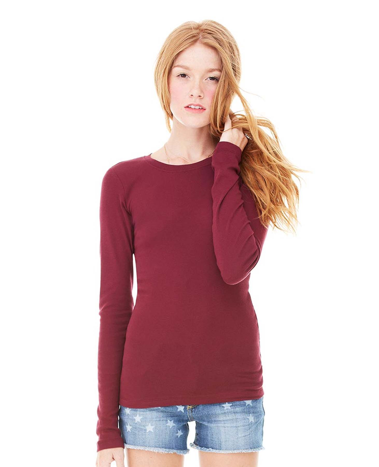 92f182af971e Women's Long Sleeve Jersey Tee Style #6500