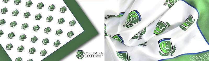 College custom logo scarves - Silk twill - Oblong