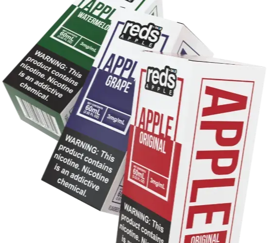 Reds apple packaging box