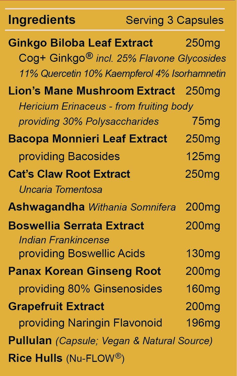 NeruoMem 4 - Ingredients