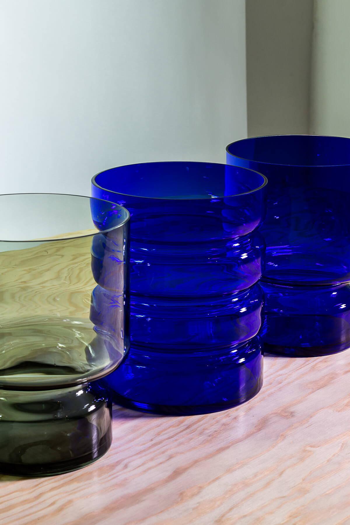 """Vase """"Hildegard"""" und """"Marlene"""" Sellerie Kollektion Glashütte VAL – diesellerie.com"""