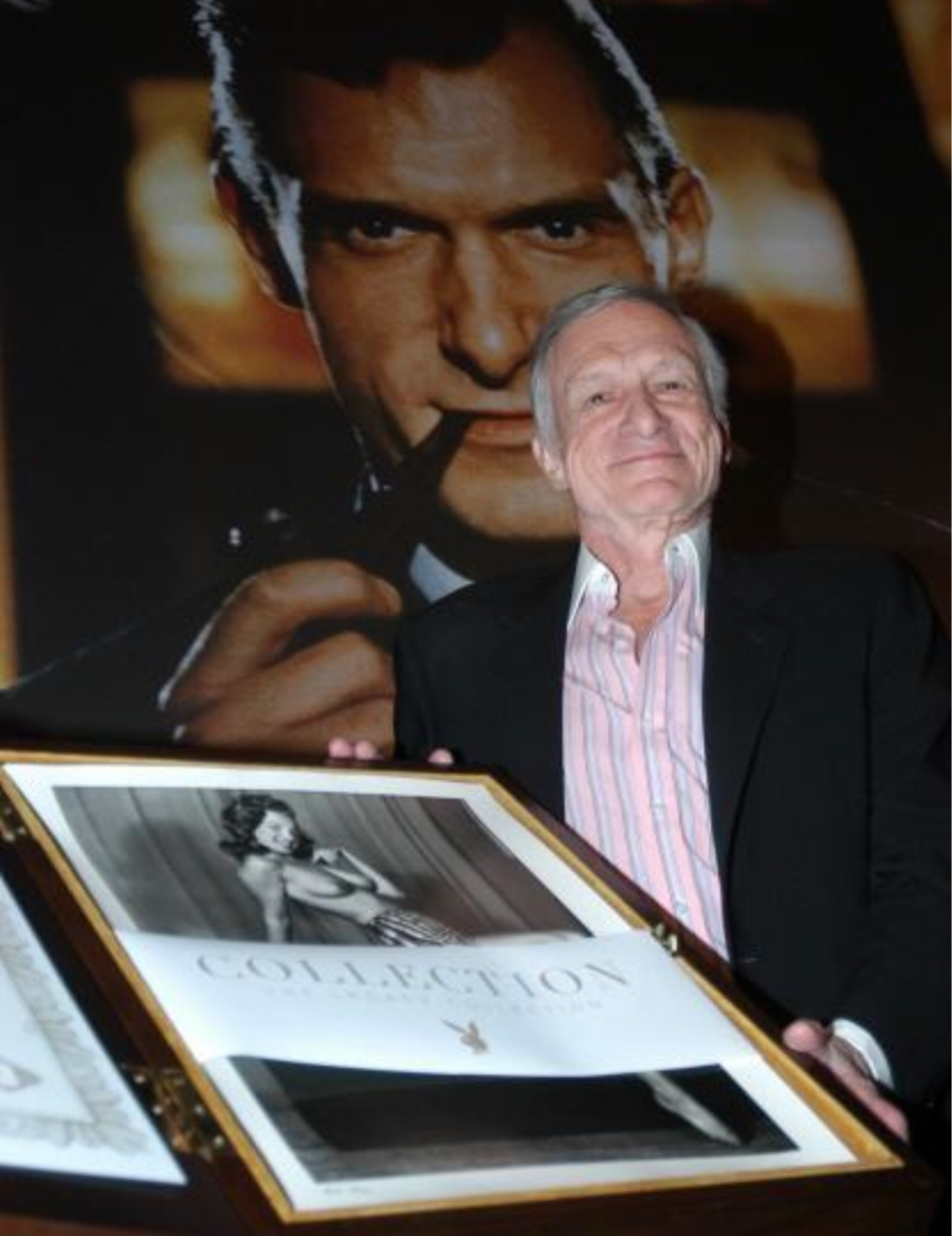 Hugh Hefner at Playboy Legacy Collection Launch