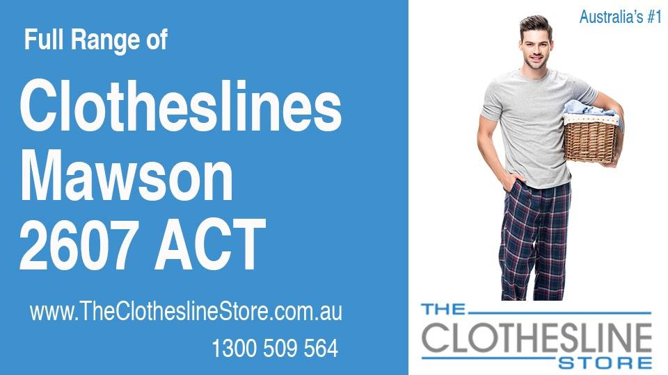 New Clotheslines in Mawson ACT 2607