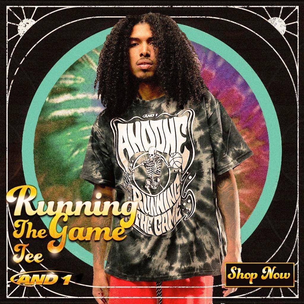 AND1 Running The Game Tie DyeTee Shirts Now Available