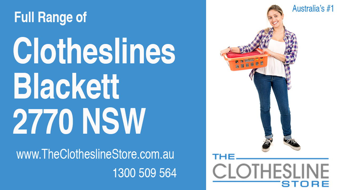 New Clotheslines in Blackett 2770 NSW