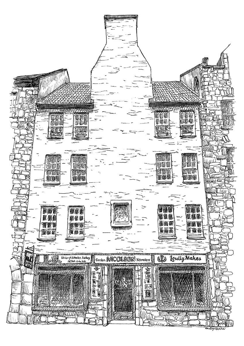 Edinburgh Sketcher GNK Canongate