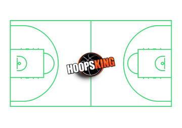 Basketball Court Diagram Hoopsking Green