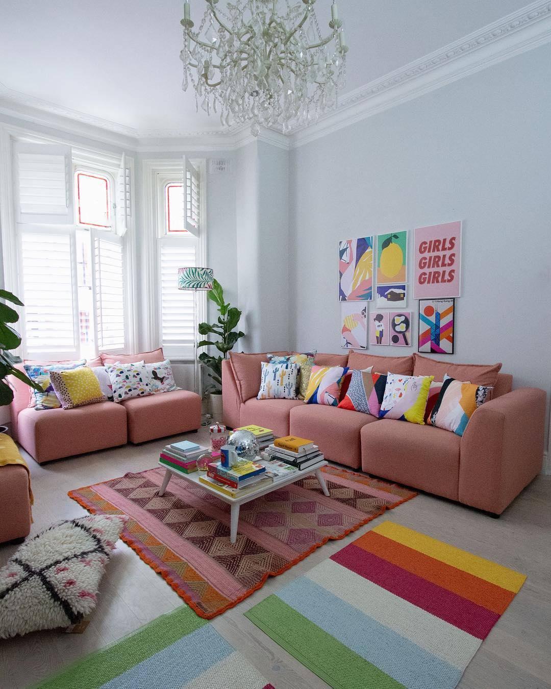colourful wall decor