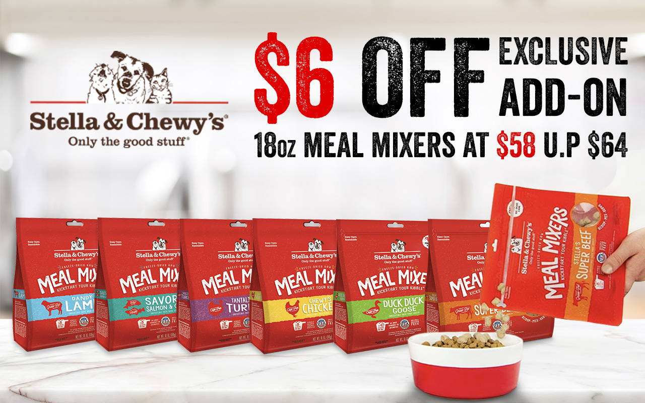 stella & chewy's meal mixers freeze-dried raw dog food 18oz promotion online pet shop pawpy kisses.-1