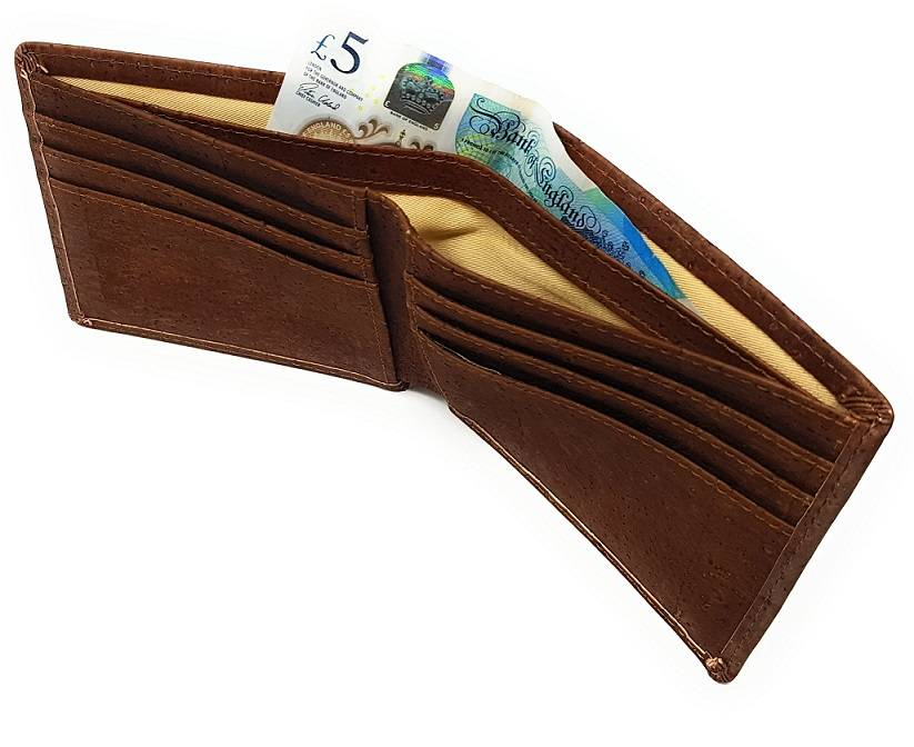 vegan card holder brown