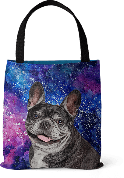 french bulldog pop art tote bag