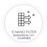 e-Nano filters patented in 137+ countries