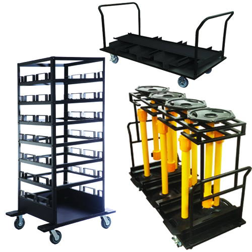 Stanchion Moving Carts & Post Storage Solutions